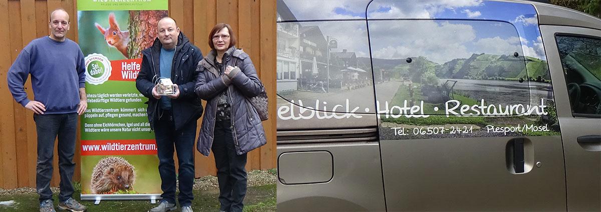 Spendenübergabe Hotel Moselblick